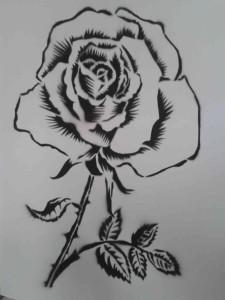 róża wielkości A2
